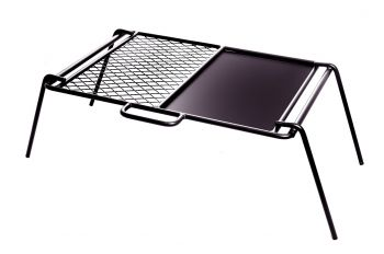 FLAT PLATE & GRILL LARGE CAMP COOKER 650X425X240MM