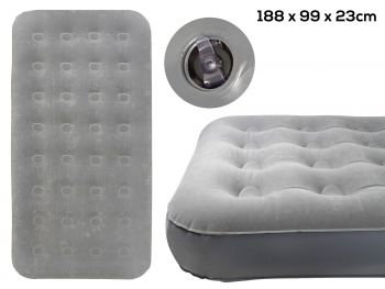 TWIN COIL BEAM FLOCKED AIRBED 188X99X23CM